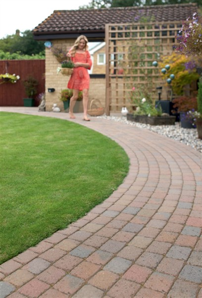 Garden paths and walkways paving for africa for Garden design ideas without grass low maintenance